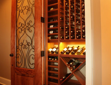 Closet Converted to Wine Cellar
