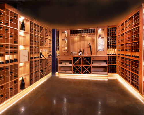 Budget wine cellar design ideas renovations photos with for Wine cellar in floor