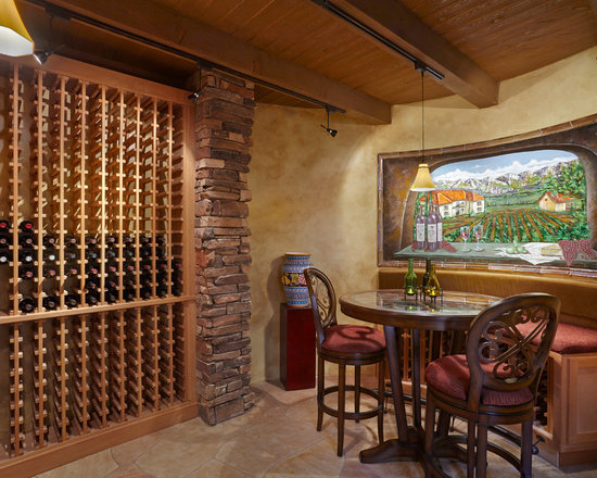 Mediterranean Wine Cellar Design Ideas, Remodels U0026 Photos