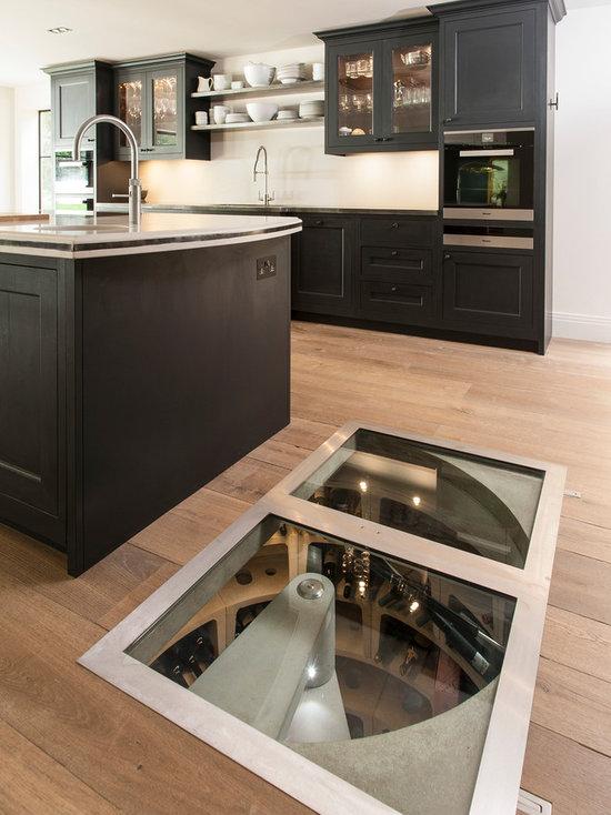see through floor wine cellar design ideas, remodels & photos