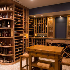 Traditional Wine Cellar by Classic Cellar Design