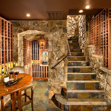 Traditional Wine Cellar by KGA Studio Architects