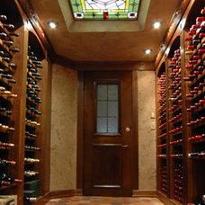 Traditional Wine Cellar by Rodney Kazenske