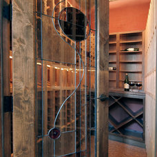 Contemporary Wine Cellar by Dragonfly Designs