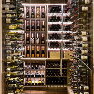 Combination Wine Cellars Featuring the Cable Wine System