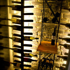 Contemporary Wine Cellar by Stone Wood and Steel