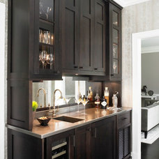 contemporary wine cellar by Christine Donner Kitchen Design Inc.