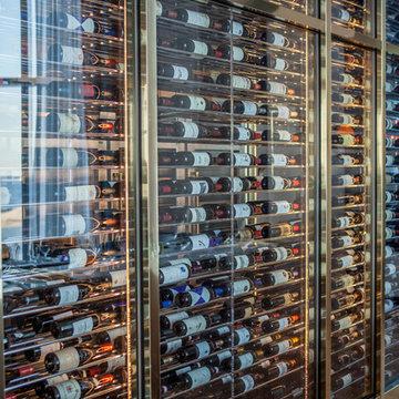 Contemporary Custom Made Wine Cabinet