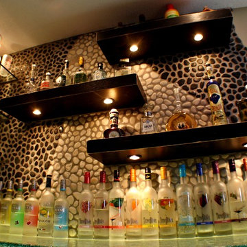 Contemporary Glass Top Bar
