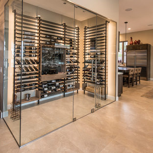 Contemporary, Sleek Home Build with Wine Cellar