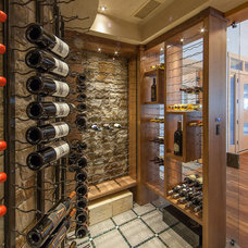Contemporary Wine Cellar by Fedewa Custom Works
