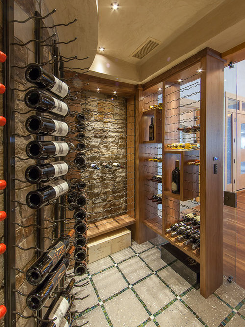 Floor With Inlay Wine Cellar Design Ideas Renovations