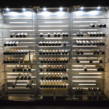 Contemporary Wine Cabinet - Tension Cable Series