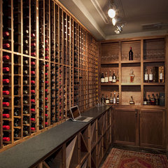 contemporary wine cellar by Cravotta Interiors