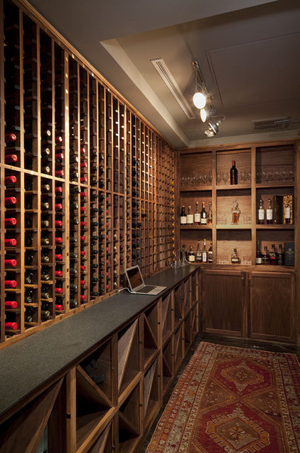 contemporary wine cellar by Cravotta Studios -Interior Design