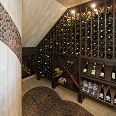 Contemporary Wine Cellar by Design Visions of Austin