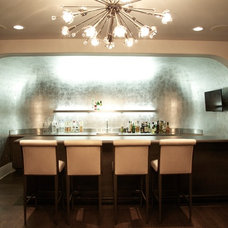 Contemporary Wine Cellar by Hinsdale Lighting