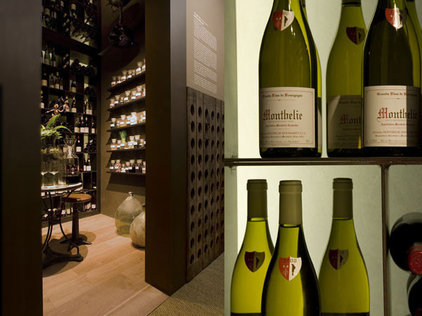 contemporary wine cellar by Nicole Hollis