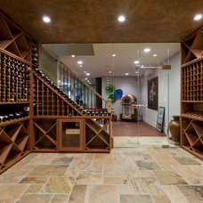 Contemporary Wine Cellar by Joseph and Curtis Custom Wine Cellars