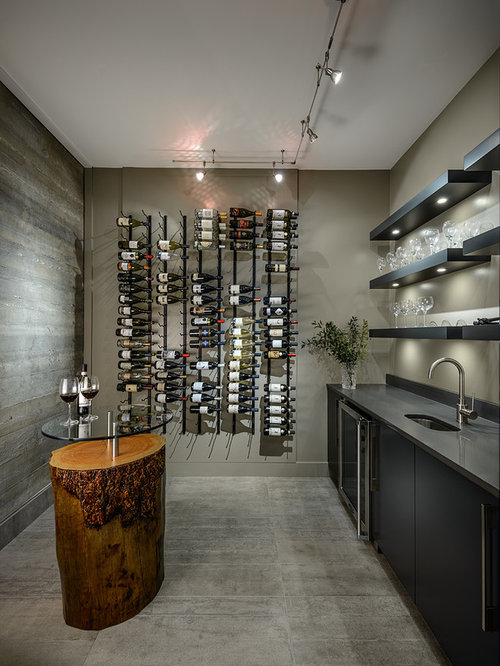 Best concrete wine racks design ideas remodel pictures for Wine cellar in floor