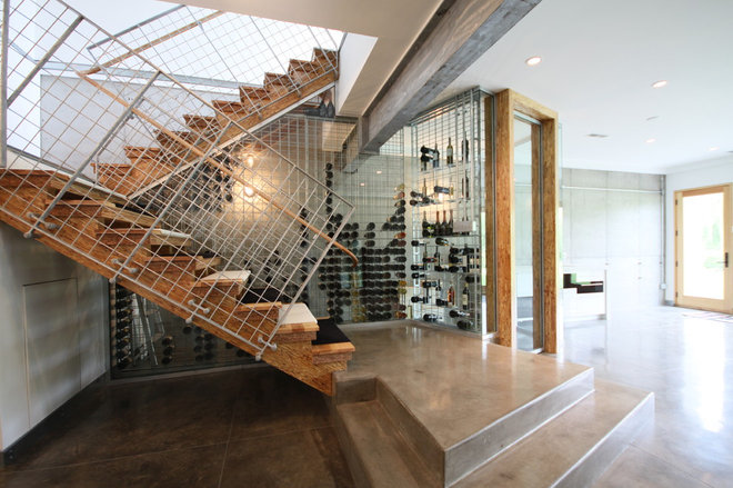 Contemporary Wine Cellar by Murphy & Co. Design