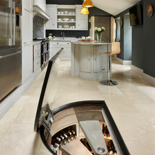Inspiration for a medium sized contemporary wine cellar in Other with storage racks.