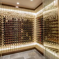 Contemporary Wine Cellar by VINIUM, LLC