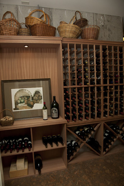 contemporary wine cellar by Whitney Lyons