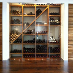 contemporary wine cellar by Kessick Wine Cellars