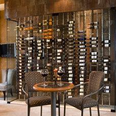 Contemporary Wine Cellar by Innovative Wine Cellar Designs