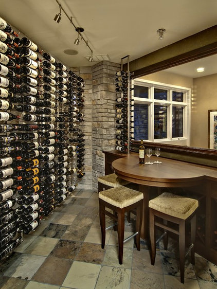 Contemporary Wine Cellar by Design By Lisa