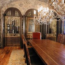 Traditional Wine Cellar by TAB ASSOCIATES INC