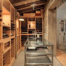Transitional Wine Cellar by Wine Cellar International