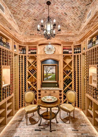 Mediterranean Wine Cellar by Charles Martin Custom Homes