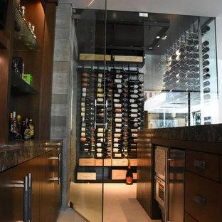 Corona Del Mar Newport Beach Glass Modern Contemporary Custom Wine Cellar