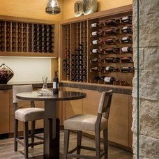 Contemporary Wine Cellar by Rosemarie Allaire Lighting Design