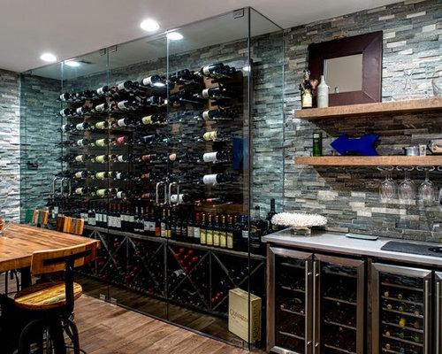 photos et id es d co de tr s grandes caves vin contemporaines. Black Bedroom Furniture Sets. Home Design Ideas
