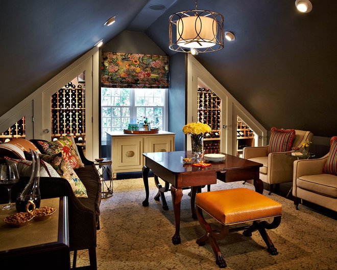 Traditional Wine Cellar by traci zeller designs