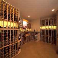 Rustic Wine Cellar by Kyle Hunt & Partners, Incorporated