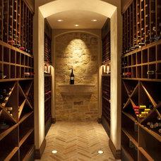 Traditional Wine Cellar by Lencioni Construction