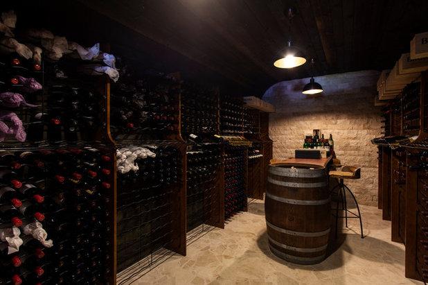 Mediterranean Wine Cellar by Karenza Jewell Interiors