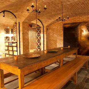 Inspiration for a rural wine cellar in London with cube storage.