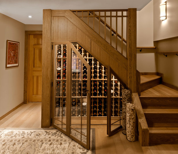 Traditional Wine Cellar by Volansky Studio