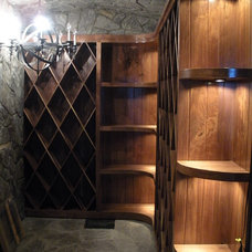 Eclectic Wine Cellar by Creative Custom Woodworks