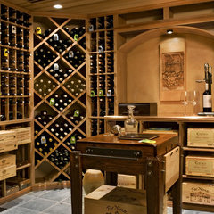 traditional wine cellar by Crisp Architects