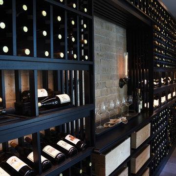 Crystal Cove, Newport Beach, Orange County Custom Wine Cellar within Model Home