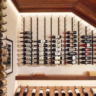 Idéer för att renovera en funkis vinkällare, med vindisplay