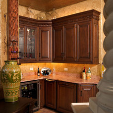 Traditional Wine Cellar by Mullet Cabinet
