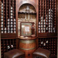 Rustic Wine Cellar by Hall Design Build