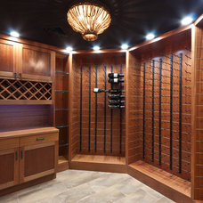 Contemporary Wine Cellar by Michael Robert Construction
